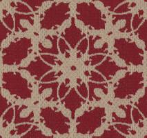 Möbelstoff KARWENDEL 362 Blumenmuster rot