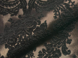 Möbelstoff LANGUEDOC 545 Muster Ornamente schwarz