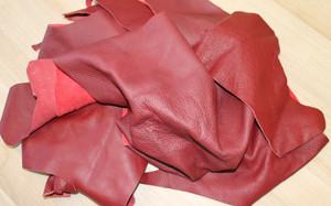 Bastelleder rot 500 Gramm - Lederreste zum Basteln