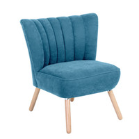 Sessel »Alessandro« Velourstoff Farbe Petrol