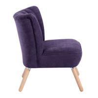 Sessel »Alessandro« Velourstoff Farbe Violett