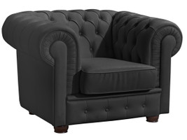 Sessel »Bridgeport« Chesterfield Kunstleder schwarz