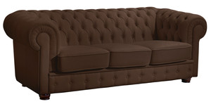 3-Sitzer Sofa »Bridgeport« Chesterfield Nappaleder braun