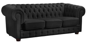 3-Sitzer Sofa »Bridgeport« Chesterfield Nappaleder schwarz
