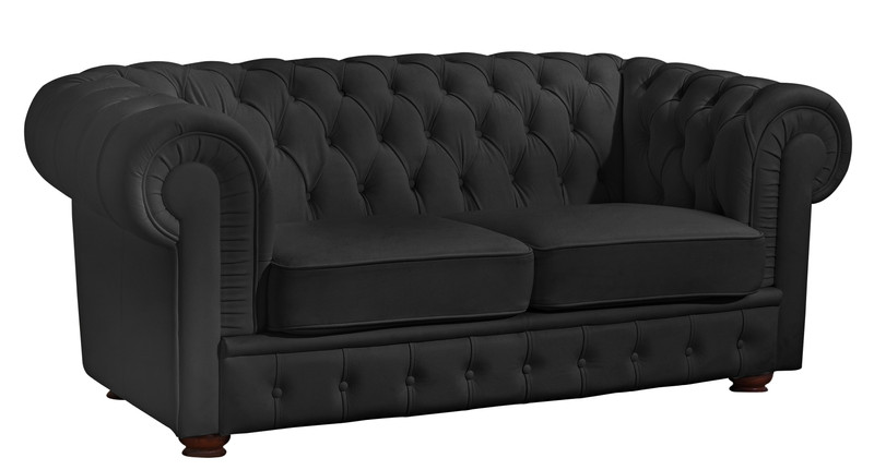2 sitzer sofa bridgeport chesterfield nappaleder schwarz. Black Bedroom Furniture Sets. Home Design Ideas