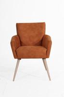 Sessel »Jörn« Veloursstoff Farbe cognac
