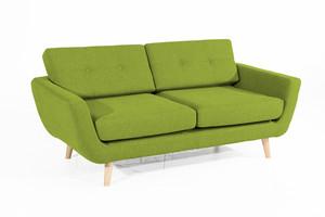 Sofa 2-Sitzer Melvin Flachgewebe Filzoptik Farbe Grün