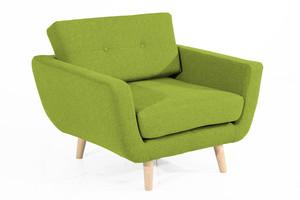 Sessel Melvin Flachgewebe Filzoptik Farbe Grün