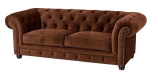 Sofa 2,5-Sitzer Chesterfield »Orleans« Samtvelours Farbe Braun