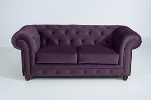 Sofa 2,5-Sitzer Chesterfield »Orleans« Samtvelours Farbe Purple