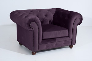 Sessel Chesterfield »Orleans« Samtvelours Farbe Purple