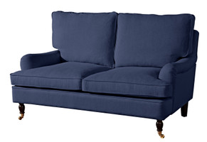 2-Sitzer Sofa »Passion« Flachgewebe Leinenoptik Farbe Dunkelblau