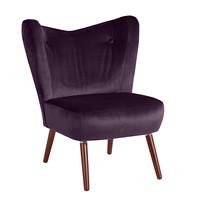 Sessel »Sari« Samtvelours Farbe Purple
