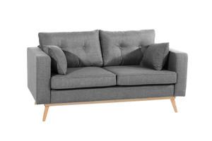 2-Sitzer Sofa »Tomme« Flachgewebe Leinenoptik Grau