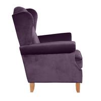 Ohrenbacksessel »Verita« Samtvelours Farbe Purple