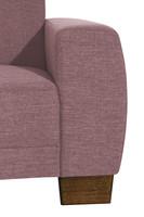 Ecksofa 2,5-Sitzer links mit Ecksofa rechts »Blackpool« Flachgewebe Farbe Aubergine
