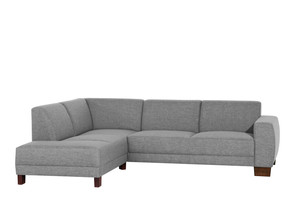Ecksofa links mit Sofa 2,5-Sitzer »Blackpool« Flachgewebe Farbe Grau
