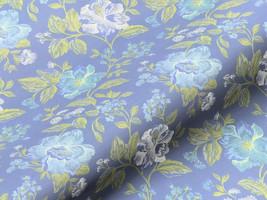 Möbelstoff ELEGANZA 62217140300 Blumenmuster blau