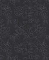 Möbelstoff HAMPTON 62661150500 Blumenmuster grau