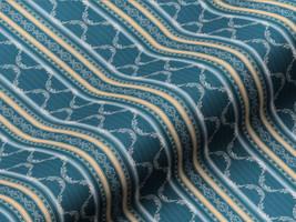 Möbelstoff BELVEDERE CLASSIC 62391140300 Streifen Ornamente blau