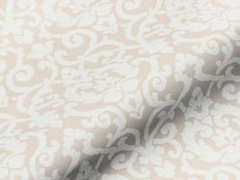 Dekostoff AMALIA blickdicht 42104140600 Muster Ornamente creme-weiß
