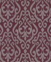 Dekostoff BRIENZA blickdicht 42332140100 Muster Ornamente rot