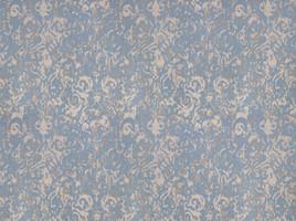 Vorhangstoff Jacquard Casa Nova 2607/71 Muster Barock Blau