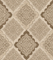 Möbelstoff VIBORG 951 Muster Ornamente braun