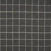 Möbelstoff / Vorhangstoff schwer entflammbar LANA HIGHLAND Karomuster schwarz