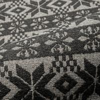 Möbelstoff schwer entflammbar LANA HIGHLAND Ornamente schwarz