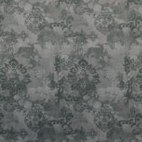 Möbelstoff schwer entflammbar VELLUTO Ornamente grau