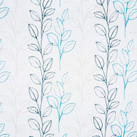 Dekostoff Vorhangstoff schwer entflammbar DAY & NIGHT Blättermuster blau