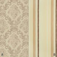 Dekostoff Vorhangstoff schwer entflammbar DIMOUT Muster Abstrakt beige