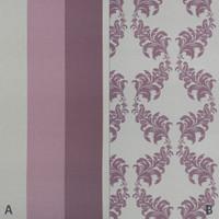Dekostoff Vorhangstoff schwer entflammbar DIMOUT LINEN Ornamente lila