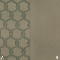 Dekostoff Vorhangstoff schwer entflammbar DIMOUT Muster Abstrakt grün