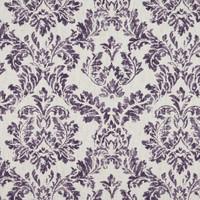 Dekostoff Vorhangstoff schwer entflammbar LINO Ornamente lila