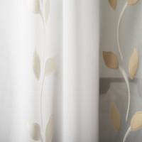 Gardinenstoff Blättermuster beige