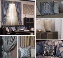 Möbelstoff Vorhangstoff Jacquard Samt ELIXIR 2560/29 Ornamente Muster braun