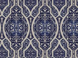 Möbelstoff Vorhangstoff Jacquard Samt ELIXIR 2560/70 Ornamente Muster blau