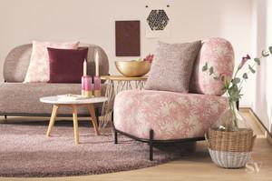 Möbelstoff SCANDI 62728101 Blumenmuster pink