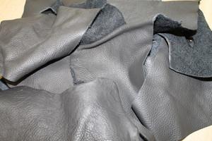 Bastelleder anthrazit - 3 Kg Lederreste zum Basteln