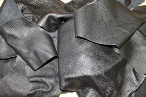 Lederreste schwarz - 5 Kg Bastelleder zum Basteln