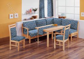 Möbelstoff Wiesenfeld 145 Blumenmuster blau