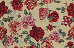 Möbelstoff Gobelin Tizian 501 Blumenmuster