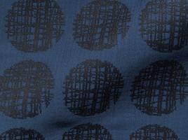 Möbelstoff CAPRIANO 834 Muster Punkte blau