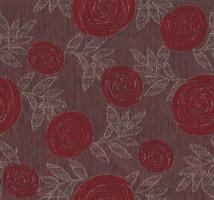 Möbelstoff Falun 553 Blumenmuster rot-braun