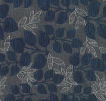 Möbelstoff Varberg 545 Blumenmuster grau blau