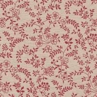 Möbelstoff Walchensee 170L Blumenmuster rot weiß