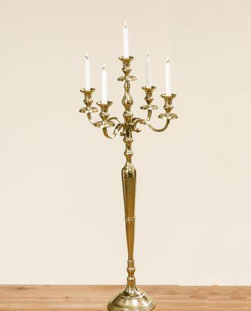 Edler Kerzenleuchter Gold 120cm raw Effekt Barock Antik Kerzenständer