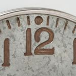 Große Zierende Wanduhr Romika D74cm Metall Grau Zink Uhr